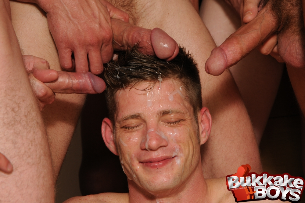 drenched in a horny gay cum party