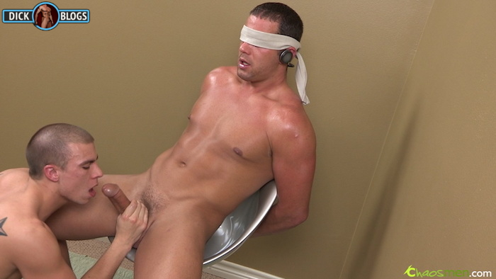 Guy sucking a hung man
