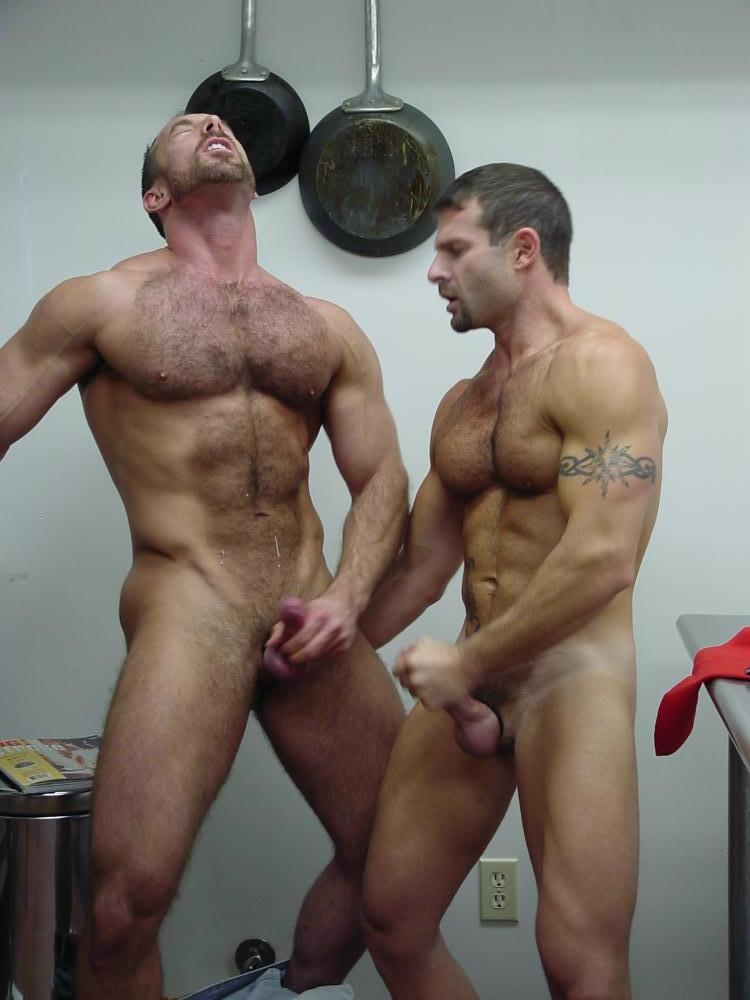 Naked muscle jerk off