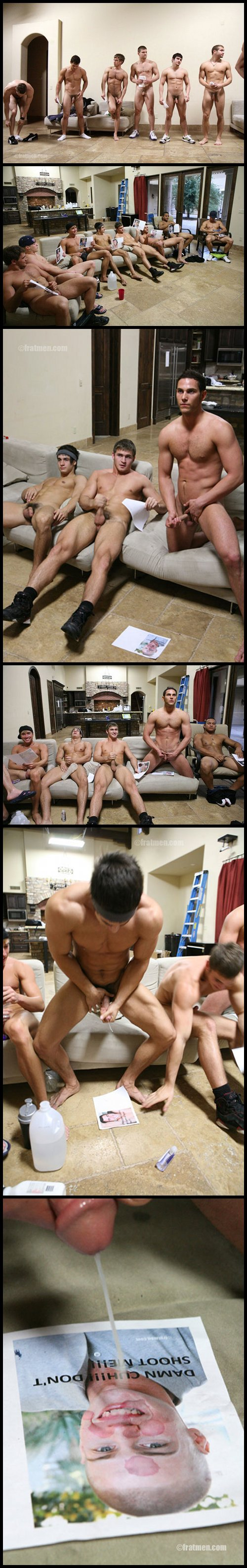 Frat Men Jerk Off Together