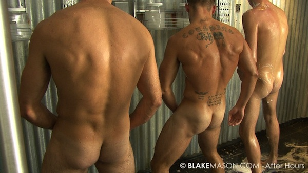 straight guys wanking together