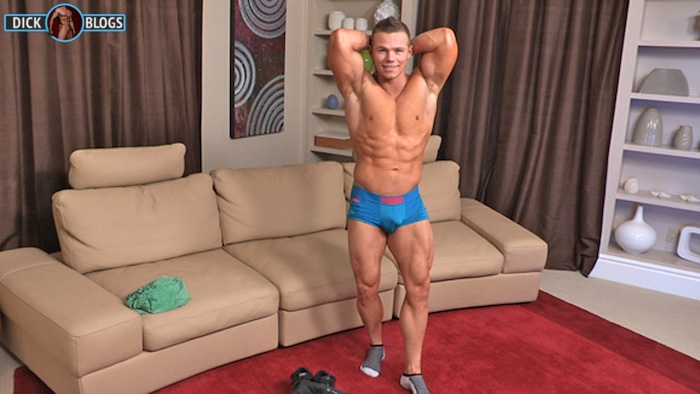 bodybuilder ready to jack off