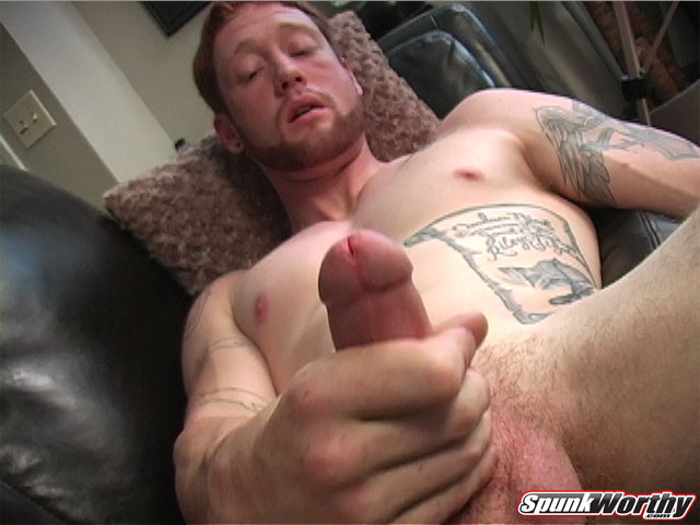 Hot Straight Guy Jerking Off
