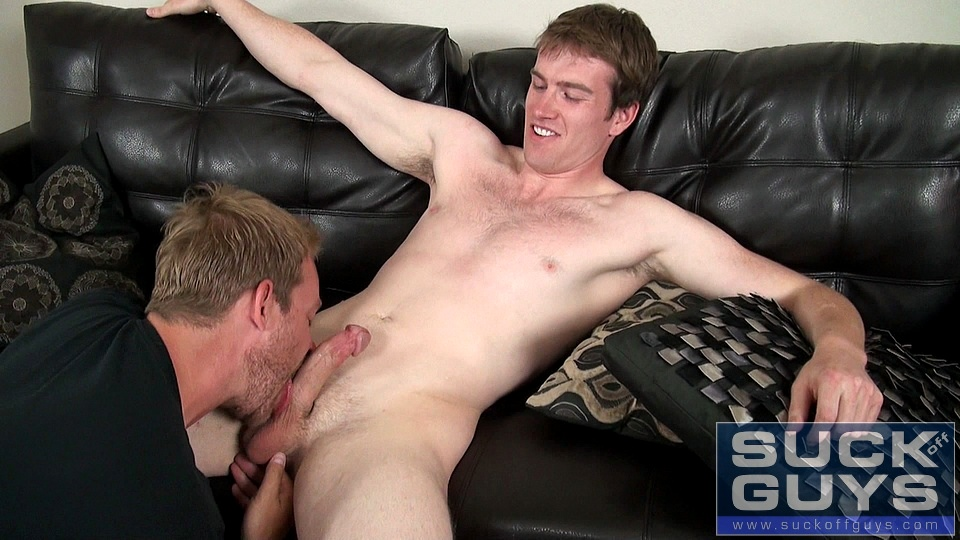 Sucking off straight guys muscular male