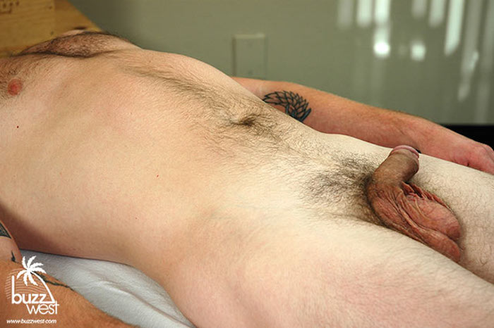 straight guy cock in a massage video