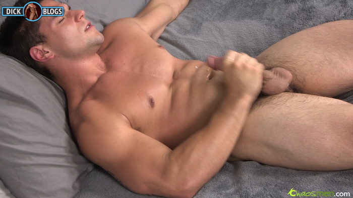 Horny Straight Hunk Jerking His Cock For Some Cash