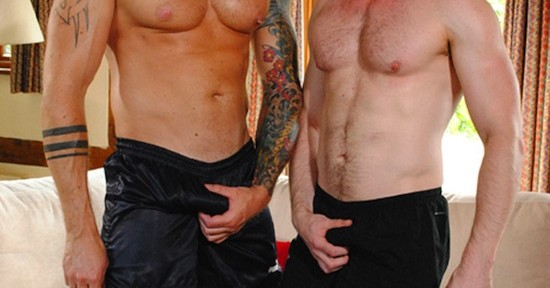 Harley Everett and Scott Hunter at Hard Brit Lads