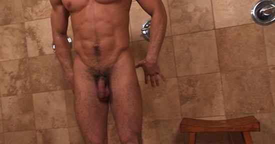 jock in the shower