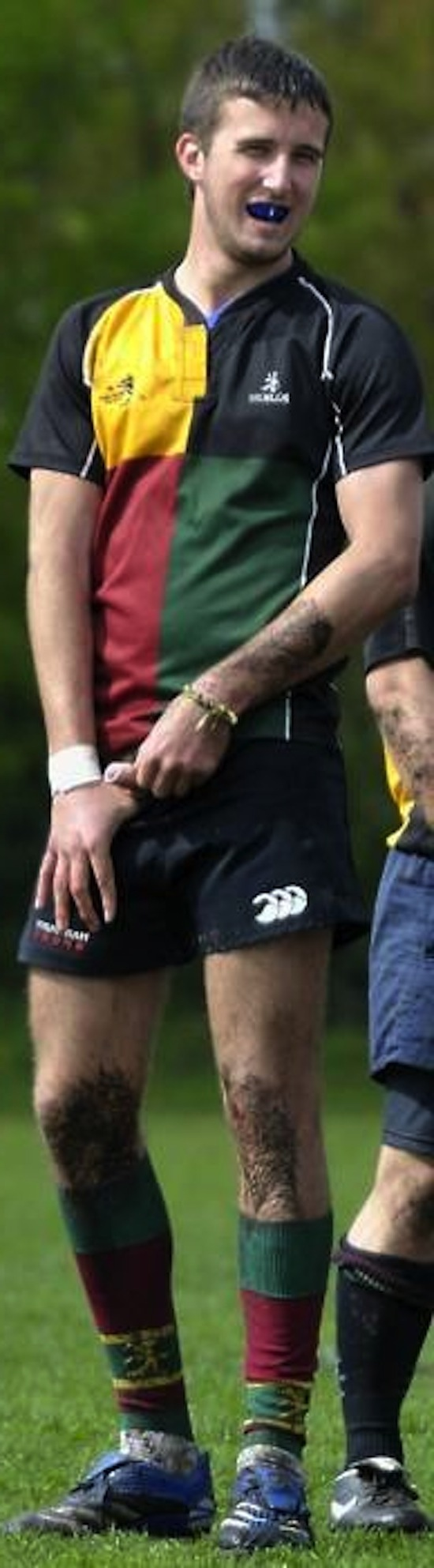 hot uncut rugby player pissing in public