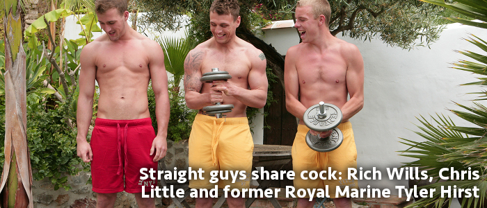 Tyler Hirst Chris Little and Rich Wills at English Lads