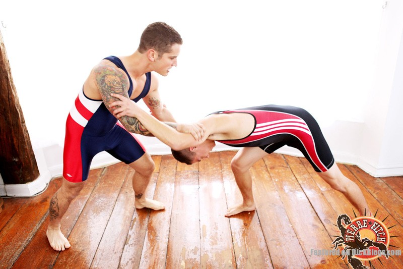 Gay wrestling boys Pierre Fitch and Brian Ty (1)