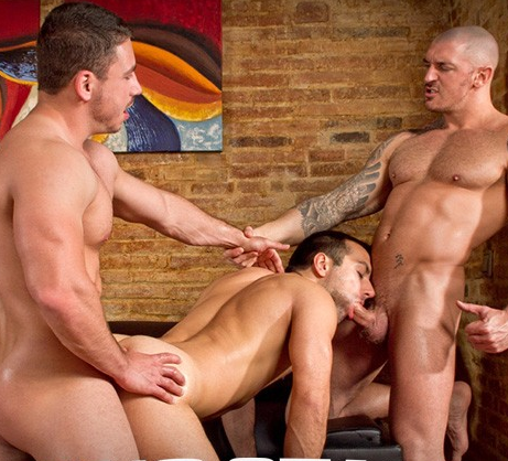Marc Dylan, Francesco D'Macho and Frederic Duris