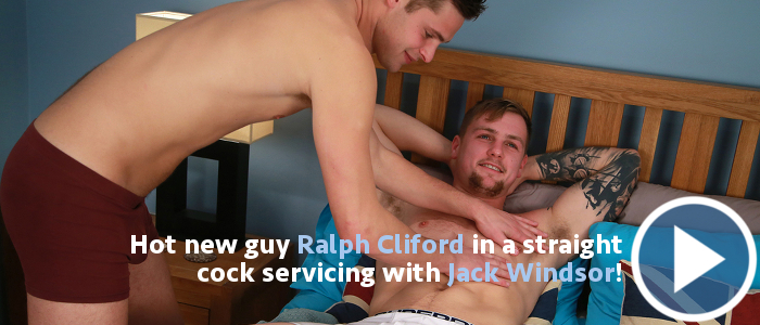 Straight cock servicing