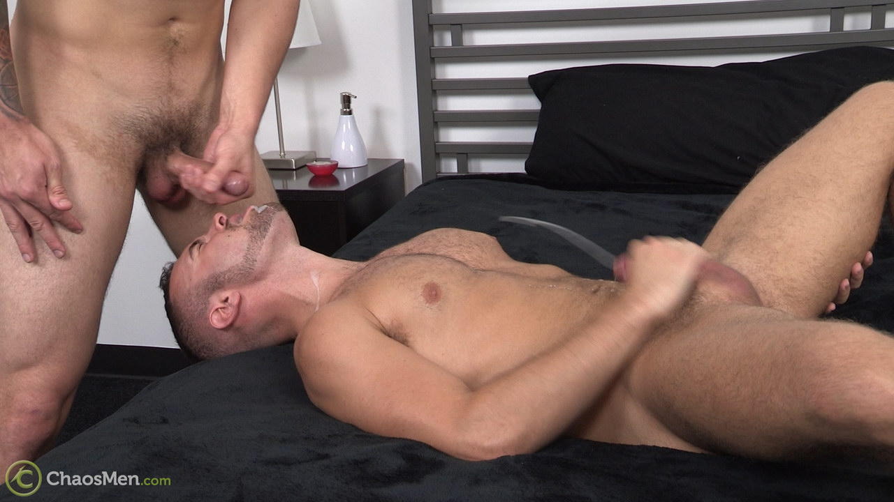 Noah drinks jock cum and squirts his own hige cum shot over himself in this Chaos Men video