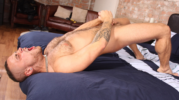 Bradley Bishop squirts out a cumshot in his new wank video for the Blake Mason gay porn site