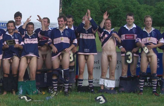 Hot and horny Rugby players like to get naked together 9