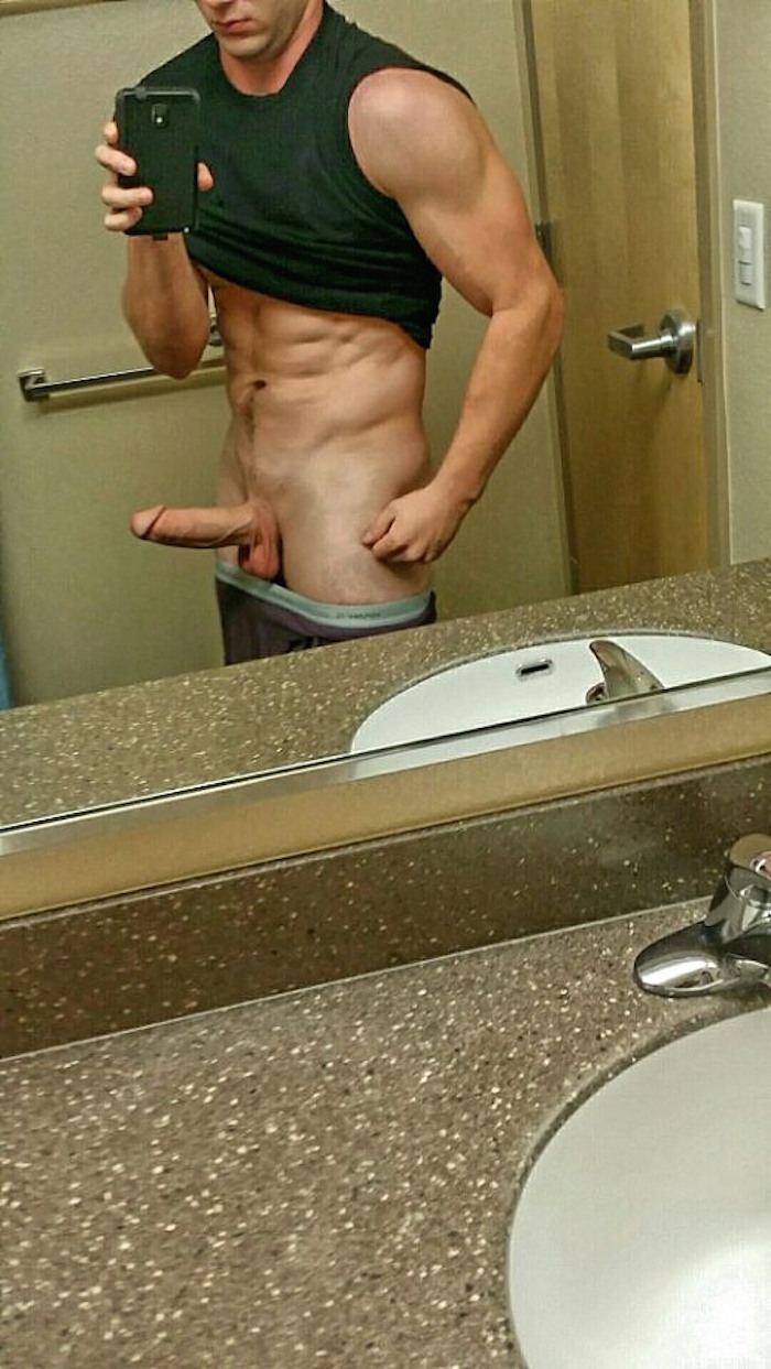 Nude guys in kitchen — pic 3