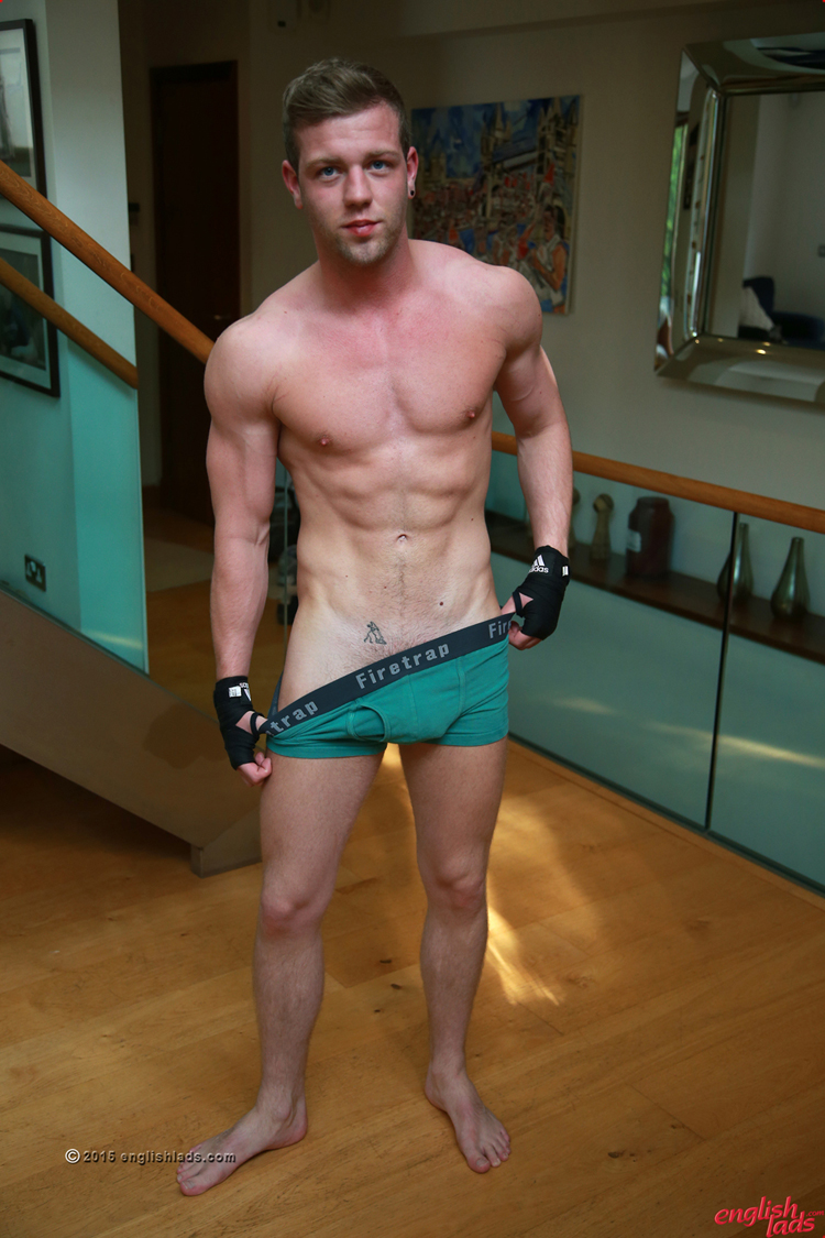 Joey steels jacking his big rod just to cum in his undies 2