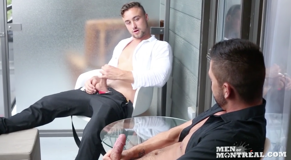Dominic Pacifico and Samuel Stone are friends jacking off