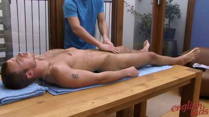 Hayden Harris gets a gay massage