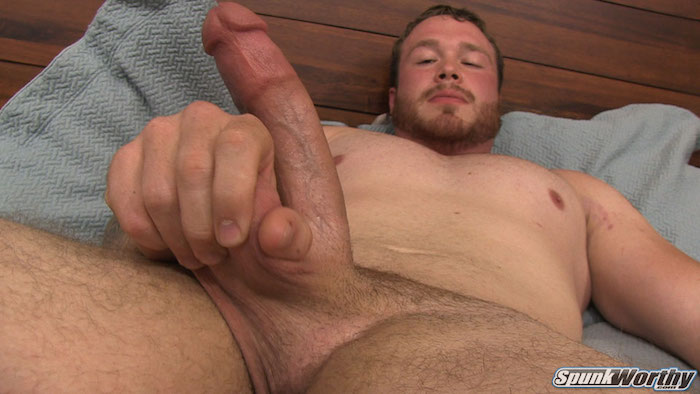 Straight guy handjob with former Marine Niall and his big cock 3