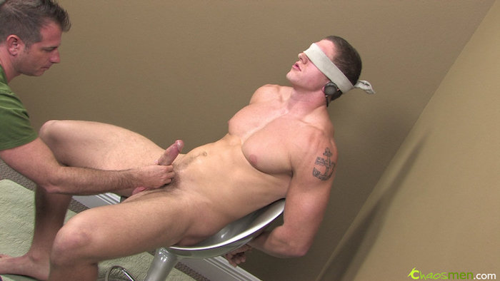 straight guy jerked off