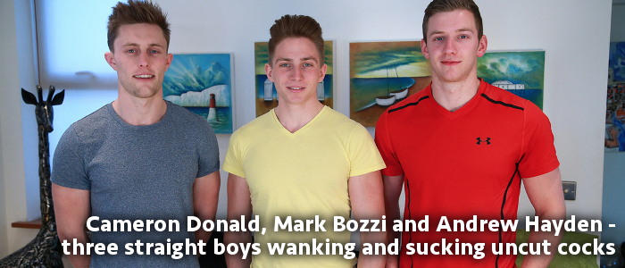 Marc Bozzi, Andrew Hayden and Cameron Donald at English Lads