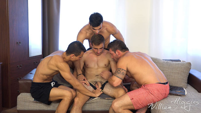 Four straight guys getting horny