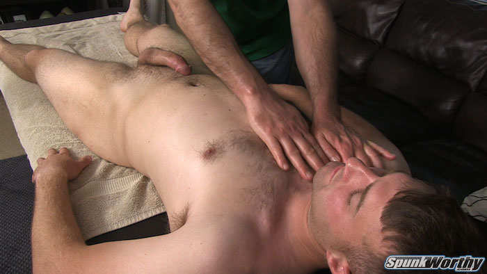 straight guy massage erection