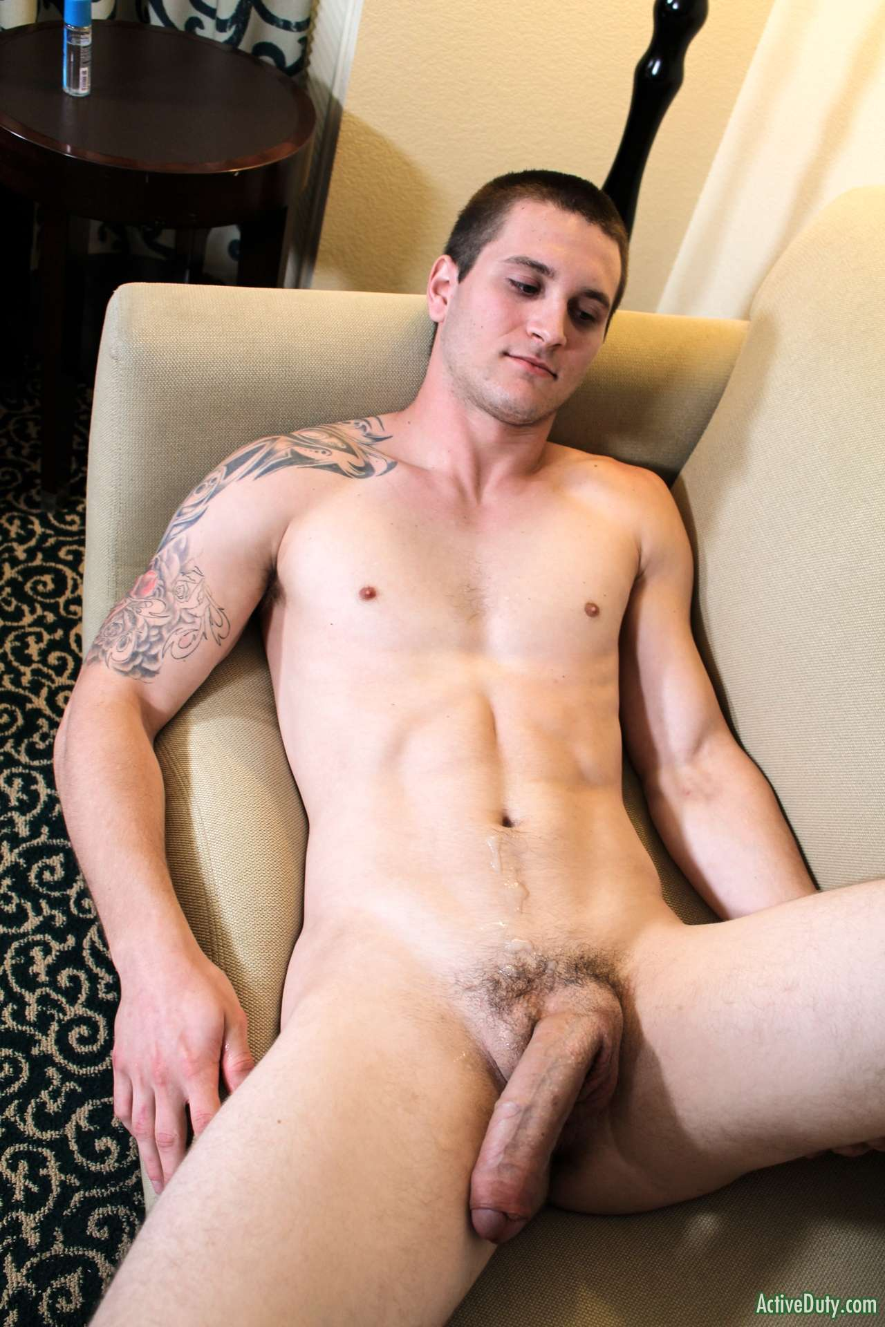 hung uncut cock semi hard