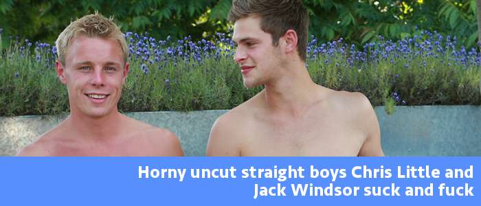 2 straight boys fucking on video Jack Windsor and Chris Little at EnglishLads