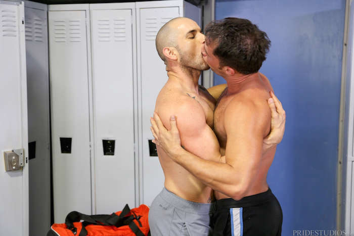 making out in the locker room
