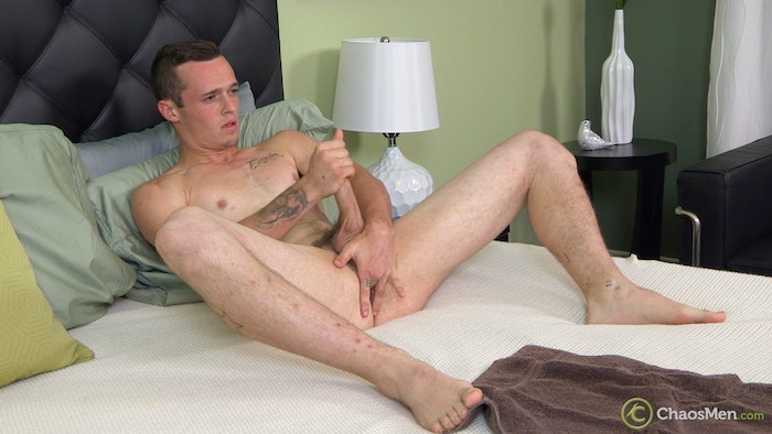 Curious straight guy Franco beats his meat and fingers his hole 7