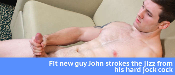 stroking hard jock cock with new guy John at Activeduty