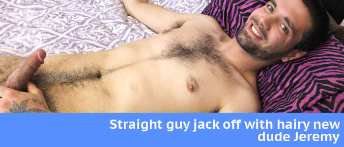 Jeremy in a straight guy jack off video for ZackRandall