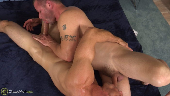 straight men 69 sucking on video at Chaosmen
