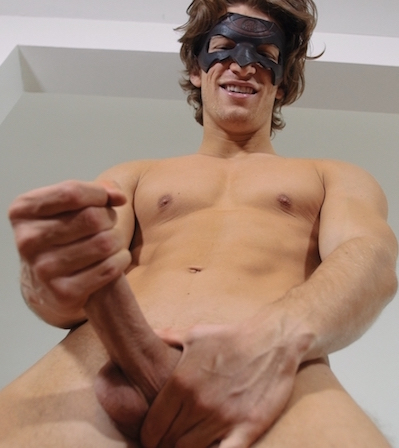 Hung and uncut jock fucking a fleshlight