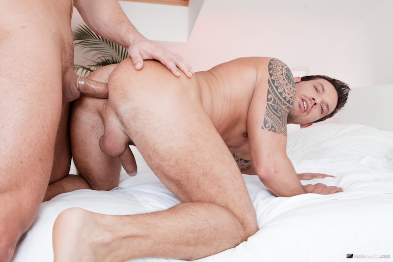 A cock in his muscle man ass
