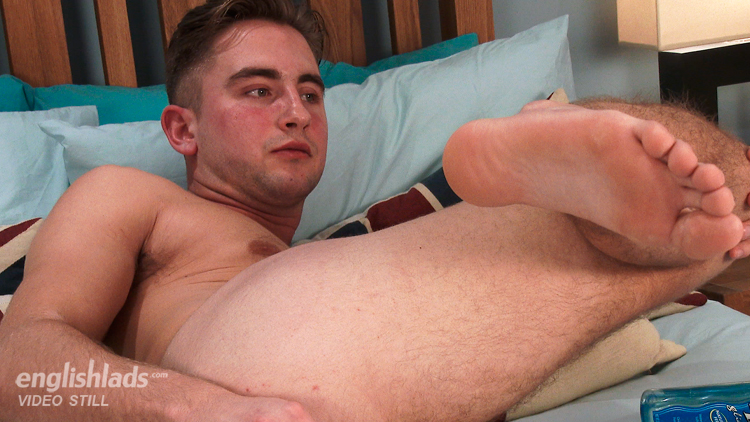 Straight boy fucking his ass with a dildo