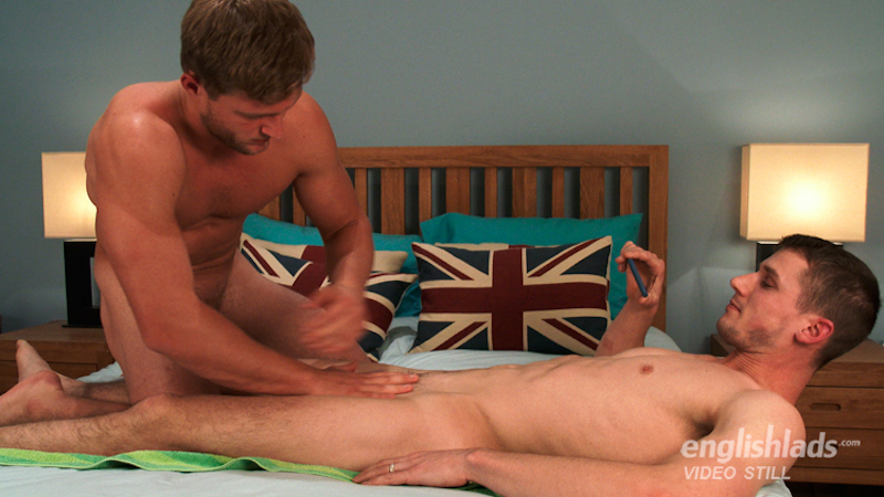 Straight guys wanking each other on video
