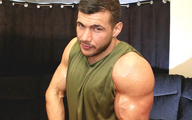 Military muscle man