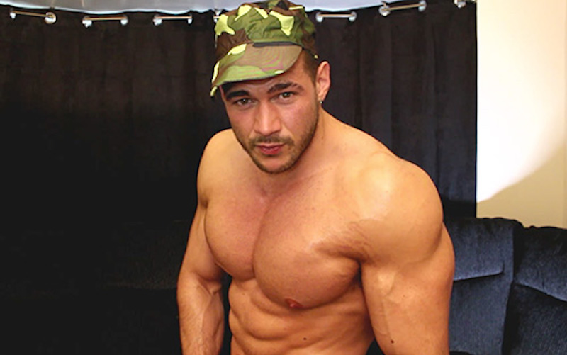 Joshua Armstrong in a military theme video