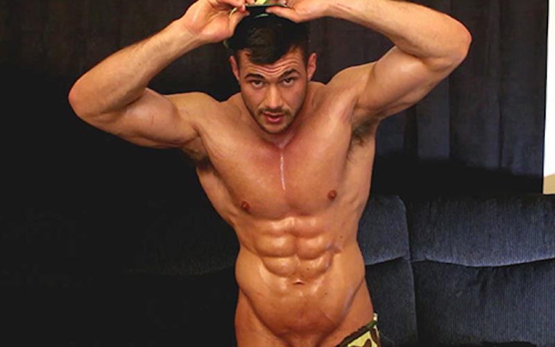 Muscle  man jack off video