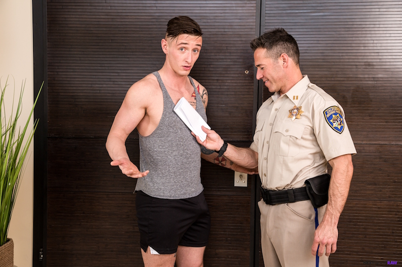 Horny cop with a bottom jock
