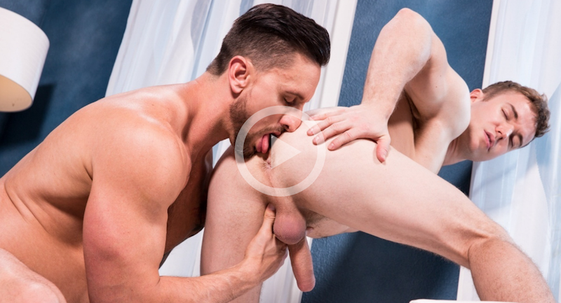 Gabriel Cross gets fucked by Dakota Rivers on video for Hot House