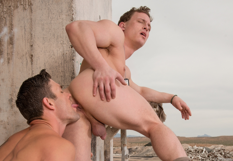 Straight jock being rimmed
