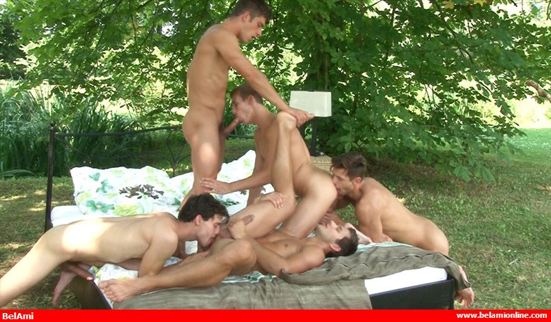 gay cock sucking orgy video from Bel Ami