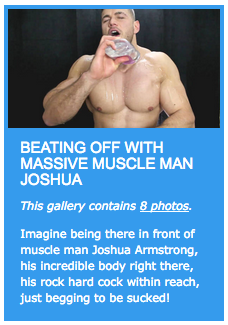 Beating off with massive muscle man Joshua