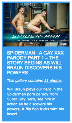 Spiderman : A Gay XXX Parody Part 1 – The story begins as Will Braun discovers his powers