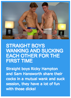 2 straight boys wank and suck on video
